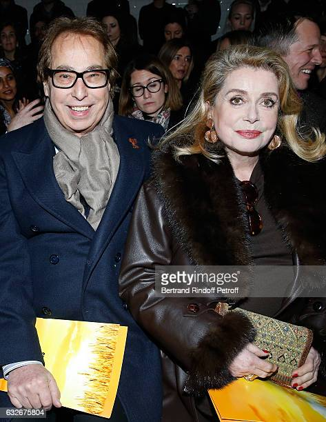 Gilles Dufour and Catherine Deneuve attend the Jean Paul Gaultier Haute Couture Spring Summer 2017 show as part of Paris Fashion Week on January 25...