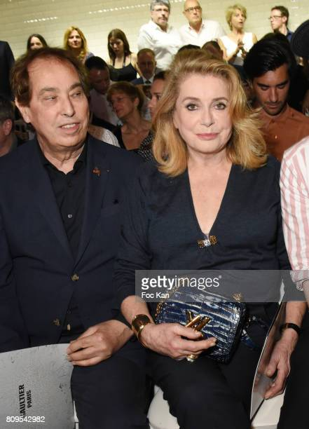 Gilles Dufour and Catherine Deneuve attend the Jean Paul Gaultier Haute Couture Fall/Winter 20172018 show as part of Haute Couture Paris Fashion Week...