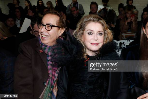 Gilles Dufour and Catherine Deneuve attend the JeanPaul Gaultier Haute Couture Spring Summer 2019 show as part of Paris Fashion Week on January 23...