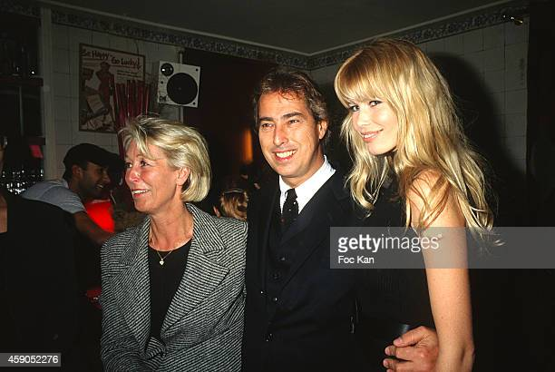 Gilles Dufour and Claudia Schiffer attend a party at Les Bains Douches in the 1990s in Paris France