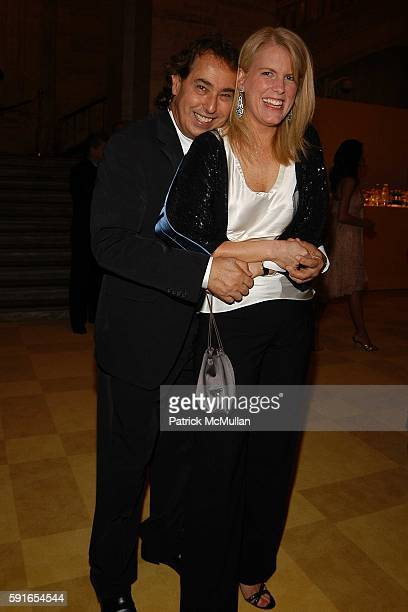 Gilles Dufour and Kate Betts attend The 2005 CFDA Fashion Awards at The New York Public Library on June 6 2005 in New York City