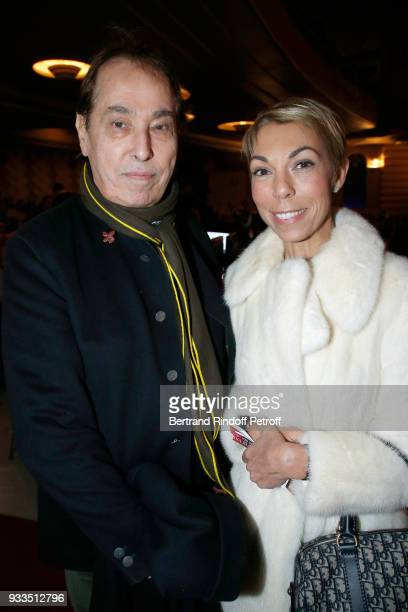 Gilles Dufour and Mathilde Favier attend Sylvie Vartan performs at Le Grand Rex on March 16 2018 in Paris France