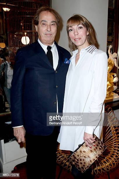 Gilles Dufour and Mathilde Favier attend the 'Eugenia Grandchamp Des Raux' Danse Exhibition at Galerie Pierre Passebon on June 10 2014 in Paris France