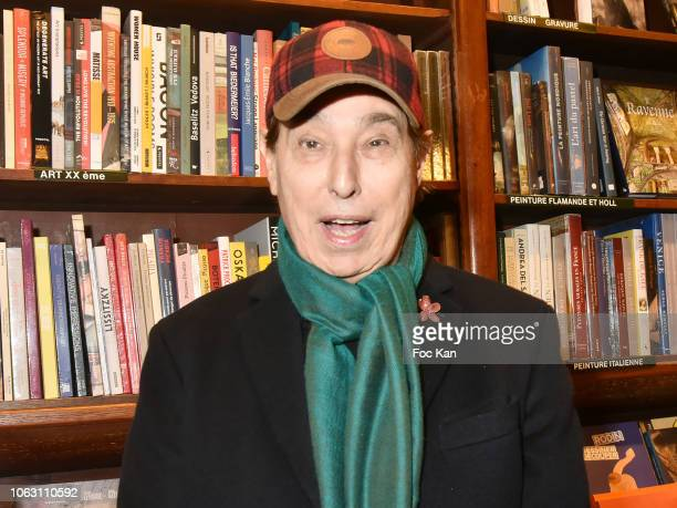 Gilles Dufour attends illustrator Pierre Le Tan Book Signing at Bookshop Galignani on November 17, 2018 in Paris France.