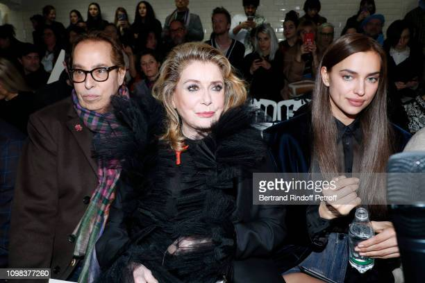 Gilles Dufour Catherine Deneuve and Irina Shayk attend the JeanPaul Gaultier Haute Couture Spring Summer 2019 show as part of Paris Fashion Week on...