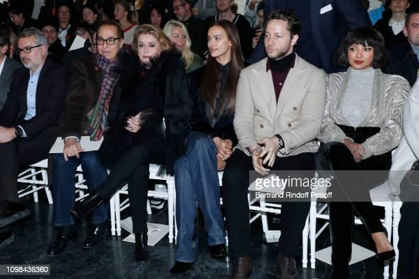 "Gilles Dufour, Catherine Deneuve, Irina Shayk, Derek Blasberg and Katerina ""Kat"" Graham attend the Jean-Paul Gaultier Haute Couture Spring Summer..."
