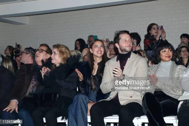 Gilles Dufour Catherine Deneuve Irina Shayk Derek Blasberg and Katerina Kat Graham attend the JeanPaul Gaultier Haute Couture Spring Summer 2019 show...