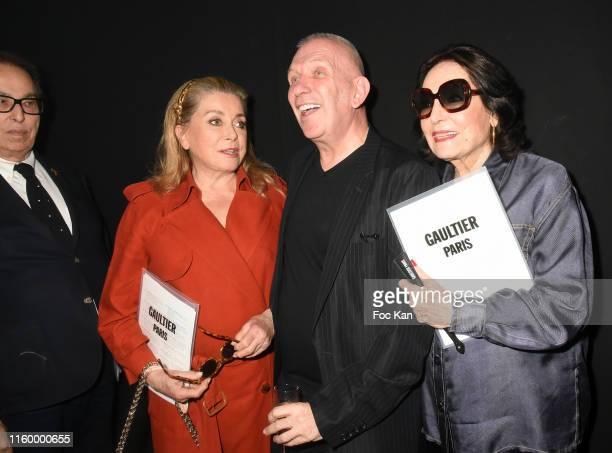 Gilles Dufour Catherine Deneuve Jean Paul Gaultier and Nana Mouskouri attend the Jean Paul Gaultier Haute Couture Fall/Winter 2019 2020 show as part...