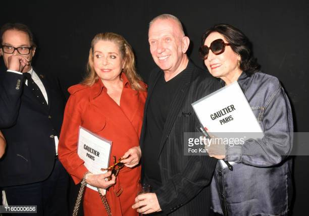 Gilles Dufour Catherine Deneuve  Jean Paul Gaultier and Nana Mouskouri attend the Jean Paul Gaultier Haute Couture Fall/Winter 2019 2020 show as part...