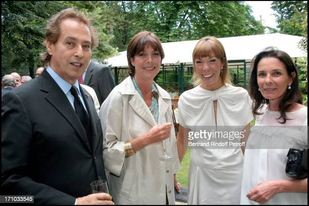 Gilles Dufour HRH Princess Caroline of Hanovre Mathilde Agostinelli and Vera Santo Domingo Jacques Granges is made Knight of the Legion of Honor by...