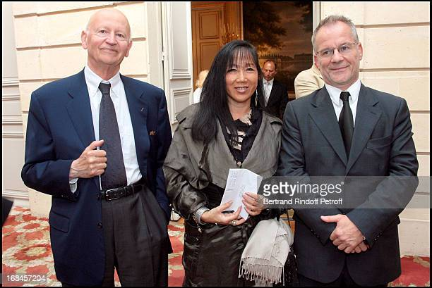 Gilles Jacob Mai Chen Chalais Thierry Fremaux at Claudia Cardinale And Giorgio Armani Awarded By French President Nicolas Sarkozy With Insignias Of...