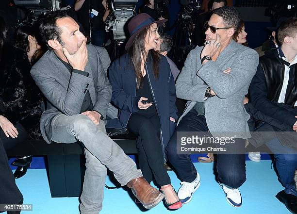 Gilles Lellouche Alice Belaidi and JoeyStarr attend the ETAM show as part of the Paris Fashion Week Womenswear Fall/Winter 2015/2016 on March 3 2015...