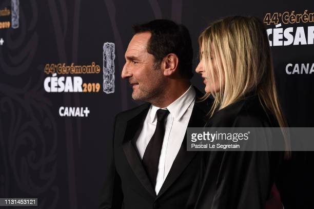Gilles Lellouche and Alizee Guinochet arrive at the Cesar Film Awards 2019 at Salle Pleyel on February 22 2019 in Paris France