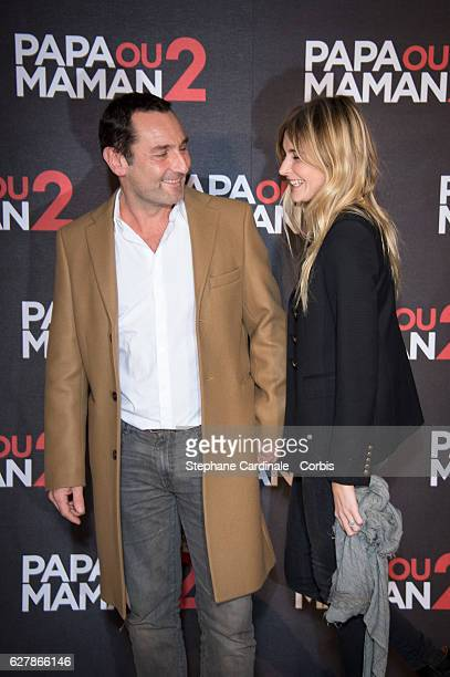Gilles Lellouche and Alizee Guinochet attend the Papa ou Maman 2 Paris Premiere At Cinema Gaumont Alesia on December 5 2016 in Paris France