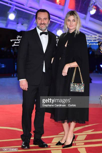 Gilles Lellouche and Alizee Guinochet attend the Tribute to Robert De Niro during the 17th Marrakech International Film Festival on December 1 2018...