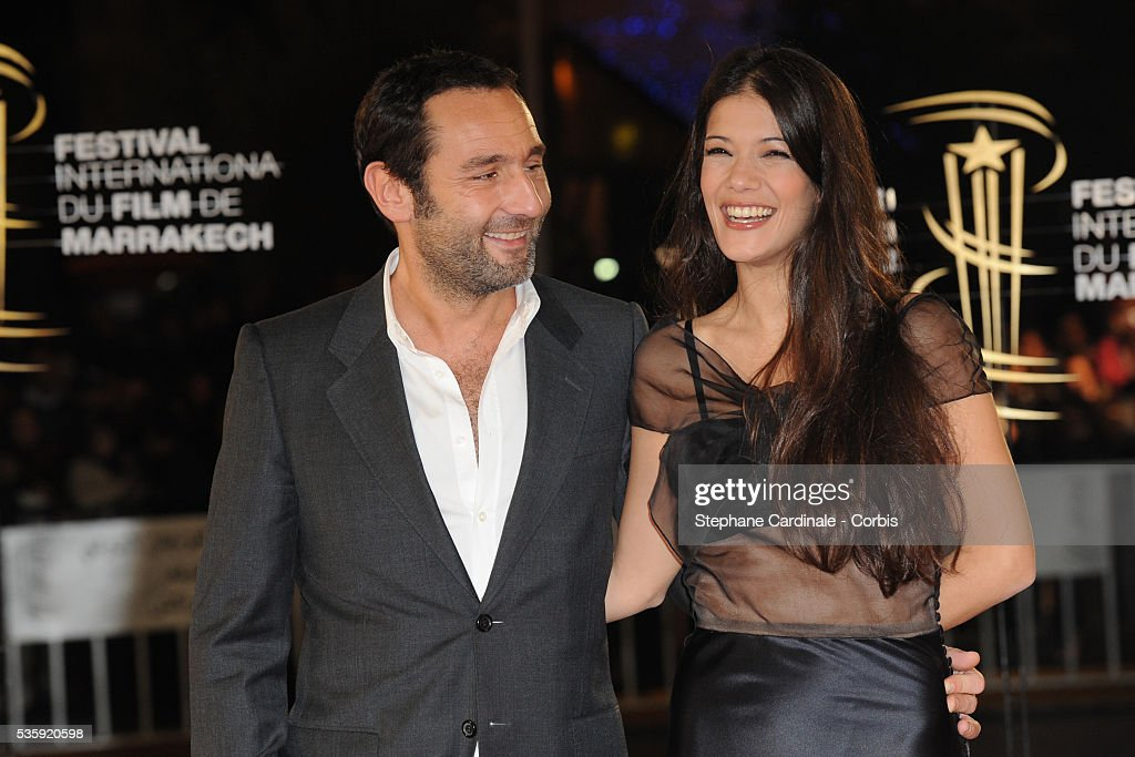 Gilles Lellouche and Melanie Doutey attend the Tribute to French Cinema during the Marrakech 10th Film Festival.