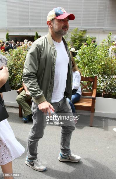 Gilles Lellouche attends the men's final during day 15 of the 2019 French Open at Roland Garros stadium on June 9 2019 in Paris France