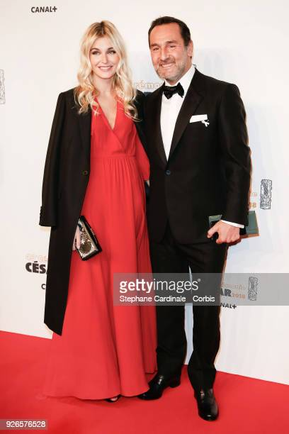 Gilles Lelouche and Alizee Guinochet arrive at the Cesar Film Awards 2018 at Salle Pleyel at Le Fouquet's on March 2 2018 in Paris France