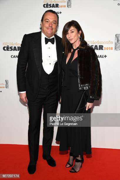 Gilles Mansard and Albane Cleret arrive at the Cesar Film Awards 2018 at Salle Pleyel on March 2 2018 in Paris France