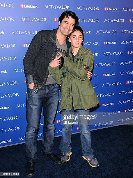 Gilles Marini and Georges Marini attend the premiere of Relativity Media's 'Act of Valor' at ArcLight Cinemas on February 13 2012 in Hollywood...