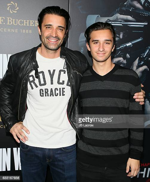 Gilles Marini and Georges Marini attend the premiere of Summit Entertainment's 'John Wick Chapter Two' on January 30 2017 in Hollywood California