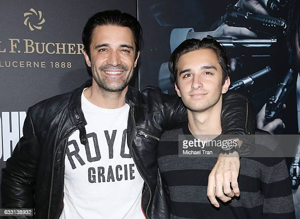 Gilles Marini and his son Georges Marini arrive at the Los Angeles premiere of Summit Entertainment's John Wick Chapter Two held at ArcLight...