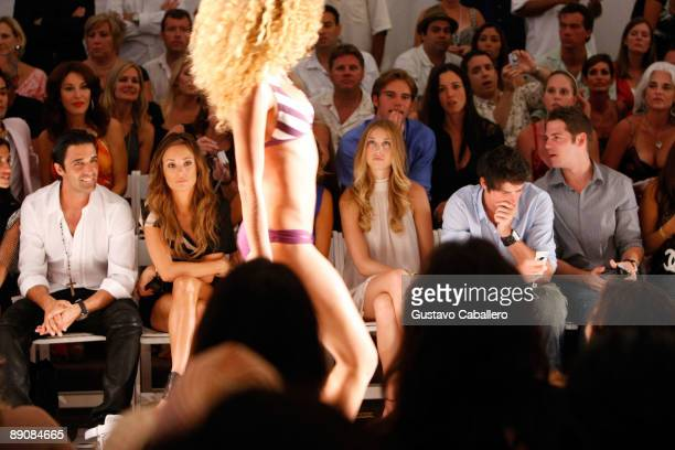 Gilles Marini and Whitney Port attend the L*Space by Monica 2010 fashion show during Mercedes-Benz Fashion Week Swim at the Cabana Grande at The...