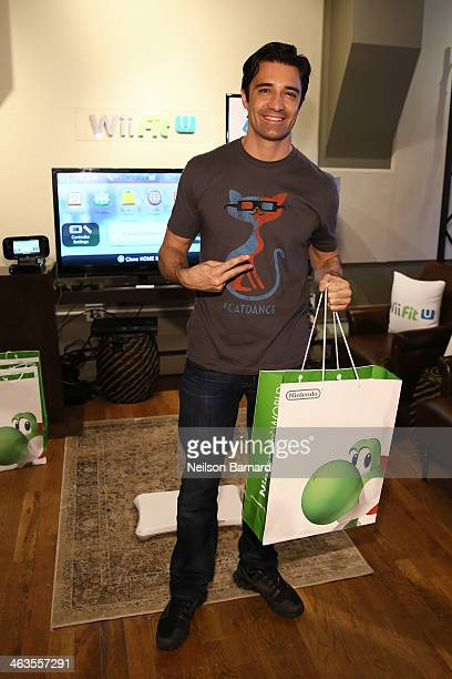 Gilles Marini gets his hands on Wii Fit U while at the Nintendo Chalet during the 2014 Sundance Film Festival on January 18 2014 in Park City Utah