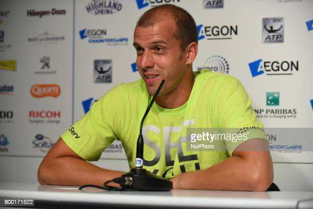 Gilles Muller of Luxembourg is pictured in the press conference at AEGON Championships at Queen's Club, London, on June 23, 2017.
