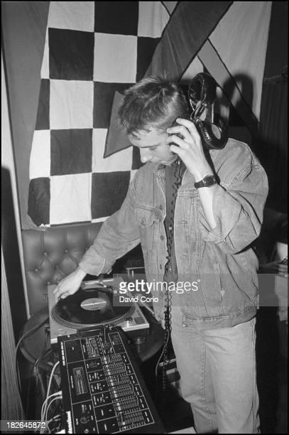 Gilles Peterson djing at 'Special Branch' at the Royal Oak Tooley Street London UK 1986