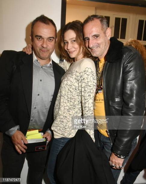 Gilles Petipas, actress Draghixa and Biitchy Jose attend 'The French Touch from A to Z' Gilles Petipas Photo Exhibition Party at 14 Rue Vertbois...