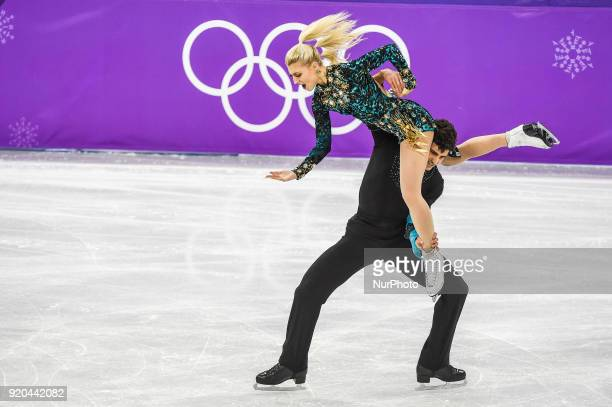 Gilles Piper and Poirier Paul of Canada competing in free dance at Gangneung Ice Arena Gangneung South Korea on February 19 2018