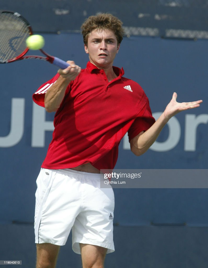 2006 US Open - Men's Singles - Second Round - Richard Gasquet vs Gilles Simon : ニュース写真