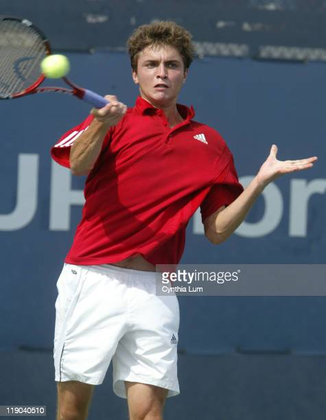 Gilles Simon during his second round match against Richard Gasquet at the 2006 US Open at the USTA Billie Jean King National Tennis Center in...