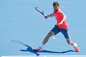melbourne australia gilles simon france plays