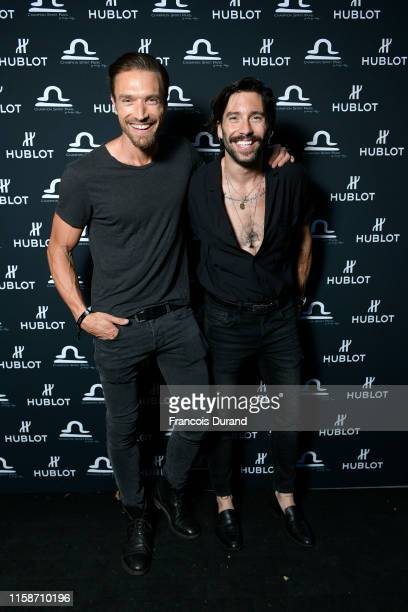 Gilles Souteyrand and Stephane Rodrigues attends the launch of Hublot x Champion Spirit on June 27 2019 in Paris France