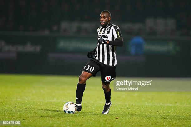 Gilles Sunu of Angers during the French Ligue 1 match between Angers and Nantes on December 16 2016 in Angers France
