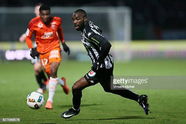 Gilles Sunu of Angers during the Ligue 1 match between Angers SCO and FC Lorient on December 3 2016 in Angers France