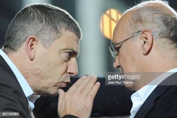 Gilles VEISSIERE / Maurice COHEN President Nice 01 112008 Nice / PSG 12eme journee de Ligue 1
