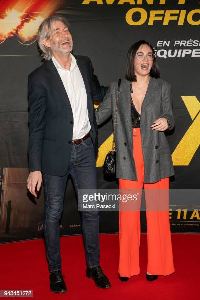 Gilles Verdez and Agathe Auproux attend the 'Taxi 5' Premiere at Le Grand Rex on April 8 2018 in Paris France