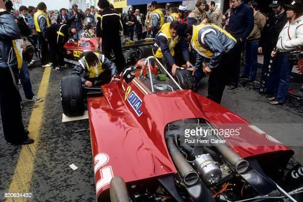Gilles Villeneuve Didier Pironi Ferrari 126C2 Grand Prix of Belgium Zolder 08 May 1982