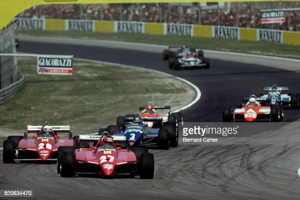 Gilles Villeneuve Didier Pironi Ferrari 126C2 Grand Prix of San Marino Imola 25 April 1982