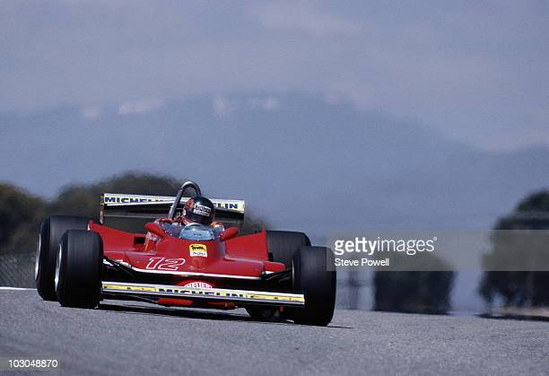 Gilles Villeneuve drives the Scuderia Ferrari 312T4 during the Spanish Grand Prix on 29 April 1979 at the Circuito del Jarama near Madrid Spain