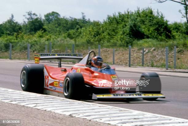 Gilles Villeneuve driving a Ferrari 312T3 at Dijon French GP 2nd