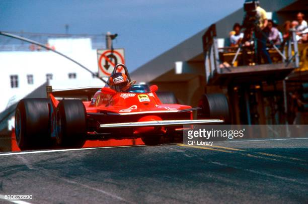 Gilles Villeneuve driving a Ferrari 312T4 at Long Beach US West.