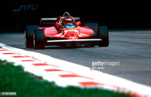 Gilles Villeneuve driving a Ferrari 312T5 at Imola Italian GP