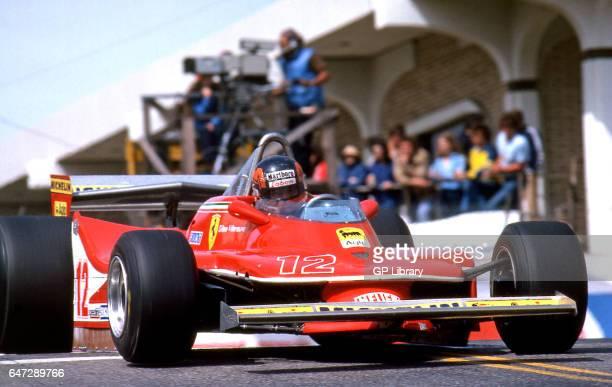 Gilles Villeneuve driving a ferrari t4 at Long Beach 1979