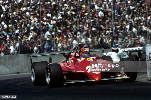 Gilles Villeneuve Ferrari 126C2 Grand Prix of United States West Long Beach 04 April 1982 Gilles Villeneuve's Ferrari 126C2 chassis raced with a...