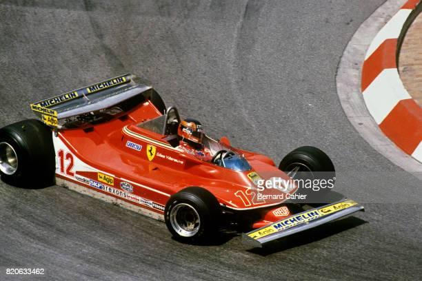 Gilles Villeneuve Ferrari 312T4 Grand Prix of Monaco Monaco 27 May 1979 Jody Scheckter on his way to victory leads team mate Gilles Villeneuve who...