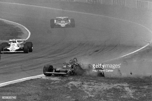 Gilles Villeneuve Ferrari 312T5 Grand Prix of Italy Imola 14 September 1980 Big crash for Gilles Villeneuve in Imola